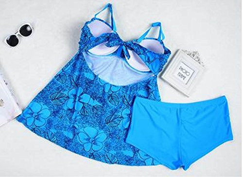 TAOZHN Trajes De Baño Bikini Femenino 56 58 60 62 64 Deportes Acuáticos Verano Sin Mangas Noble Bikini Consejo De La Escultura Cómodo Traje De Baño LakeBlue