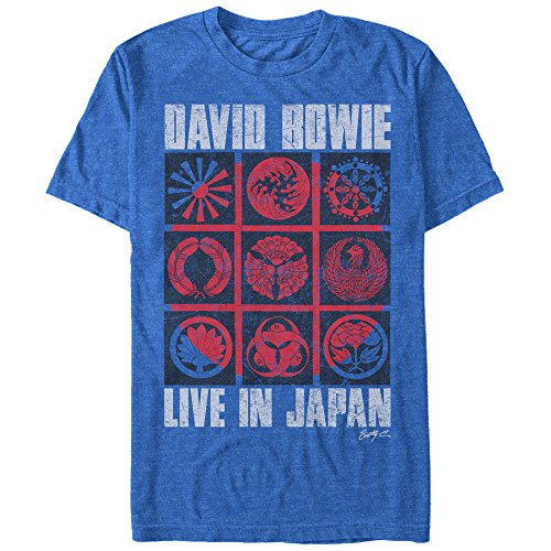 Live Adult T-shirt - David Bowie - Live In Japan 9 Square - Adult T-Shirt - Small