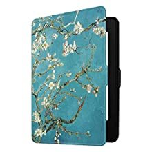 Fintie Slimshell Case for Kindle Paperwhite - Fits All Paperwhite Generations Prior to 2018 (Not Fit All Paperwhite 10th Gen), Blossom