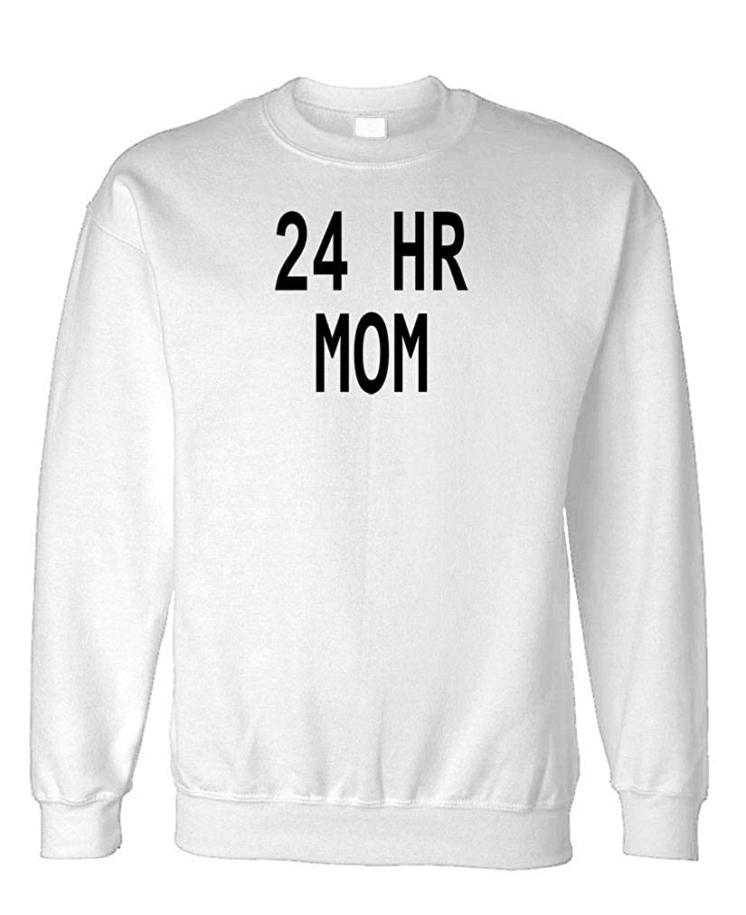 Fleece Sweatshirt Motherhood Parenting Guacamole 24 Hour MOM