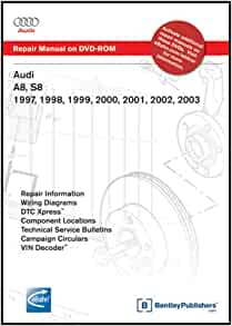 Audi a8 s8 1997 1998 1999 2000 2001 2002 2003 repair audi a8 s8 1997 1998 1999 2000 2001 2002 2003 repair manual on dvd rom windows 2000xp audi of america 9780837612584 amazon books fandeluxe Image collections