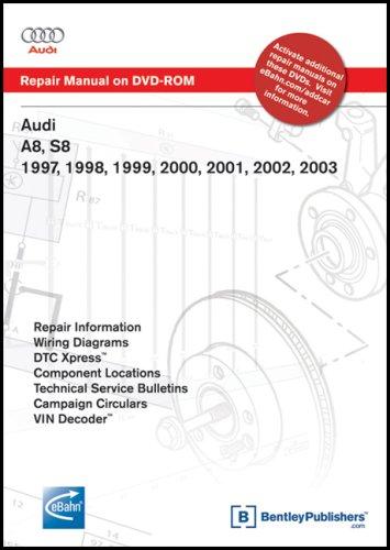 Audi A8, S8 1997, 1998, 1999, 2000, 2001, 2002, 2003: Repair Manual on DVD-ROM (Windows 2000/XP)