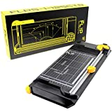"""VViViD Fl!p 5-in-1 Reversible 12"""" Guillotine Paper Cutter and 4-Blade Sliding Rotary Trimmer"""