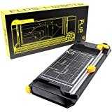 """VViViD Fl!p 5-in-1 Reversible 12"""" Guillotine Precision Paper Cutter and 4-Blade Sliding Rotary Trimmer"""
