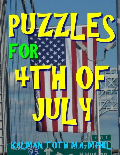 Puzzles for 4th of July: 133 Large Print Themed Word Search -