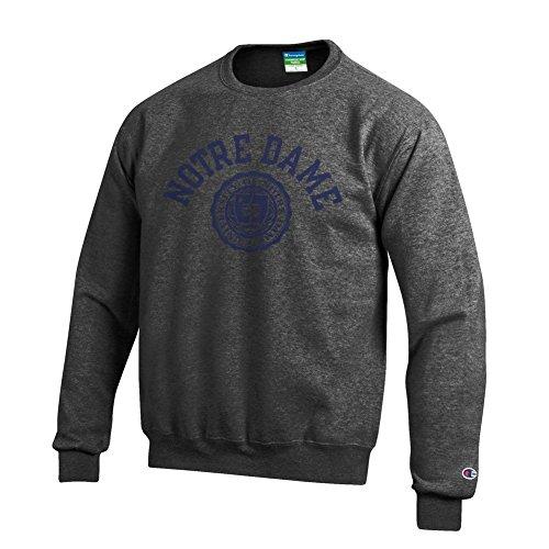Notre Dame Fighting Irish Crewneck Sweatshirt Seal Charcoal - XXL