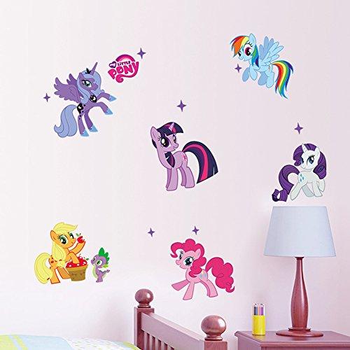 artoon My Little Pony Wall Sticker Peel & Stick Wall Art Nursery Playroom Mural (My Little Pony) ()