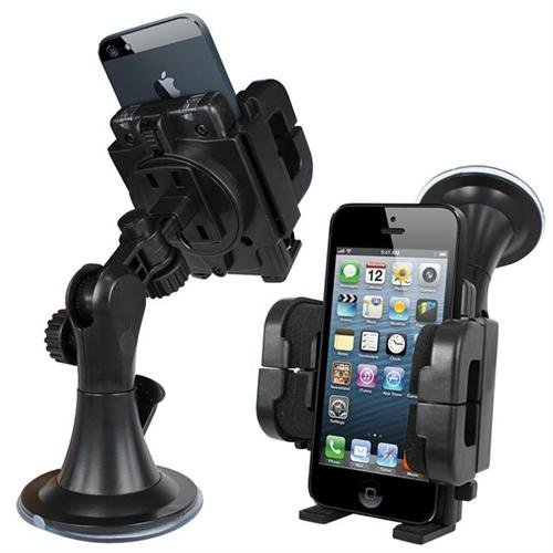 Xtra-Funky Exclusive Universal Car Phone Holder Cradle With 360 Degree Rotate and Window Suction Mount For Mobile Devices Such As PDA, Sat Nav, MP3 Players, Apple iPhone, Samsung, Sony, Nokia, HTC and Many More (See Product page for full list)