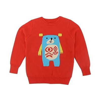 Baby Boys Girls Knit Sweater Lovely Kid Pullover Sweatshirt