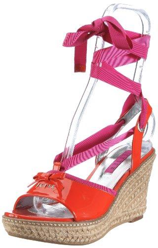 JETTE Colour Fever Wedge Sandal 63/21/14475 - Sandalias de vestir de cuero para mujer Naranja