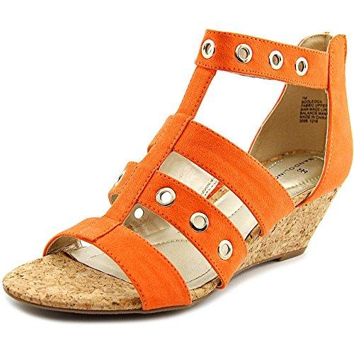 Bandolino Women's Olegga Wedge Sandal, Sunset Orange, 9 M US
