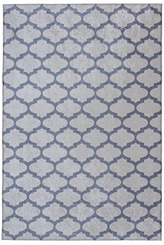 Mylife Rugs Contemporary Morroccan Trellis Design Non Slip (Non-Skid) Machine Washable Area Rug (4