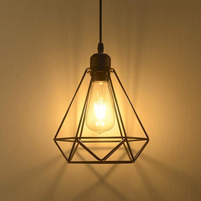 Lámpara colgante Retro Vintage iluminación de techo Iluminación ...