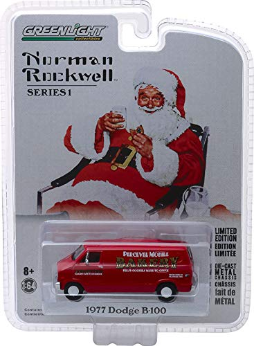 Greenlight - Norman Rockwell Collection Series 1-1977 Dodge B-100 Van Greenlight Collectibles