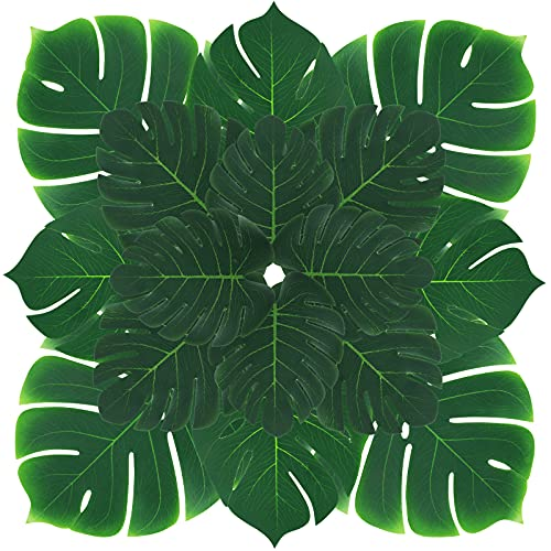 HAKACC Faux Monstera Leaves