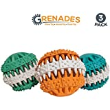 Platinum Pet Club Treat Toy for Aggressive chewers | Tough Dog Chew Toys 3 Pack | Medium - XL Dogs | Dental Care for Dogs | Grenades by