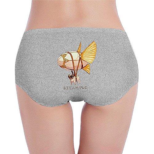Women's Organic Cotton Hipster Steampunk Pug Basic Panties/Briefs - Johnny Steampunk Depp
