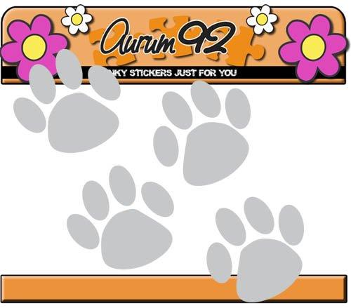 Aurum92 Set de 46/Autocollants avec Empreintes danimaux