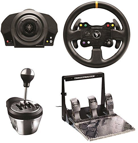 Thrustmaster Tx Servo Base  Leather Steering Wheel  Gearbox Shifter    Pedal Bundle