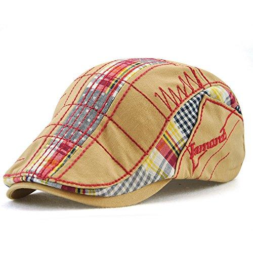 (FayTop Men's Women's Newsboy Cap Ivy Irish Flat Hat Cabbie Scally Cap Cabbie Driving Caps Hats 12945-beige)