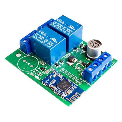 (Seajunn 2 Channel Relay Module Bluetooth 4.0 BLE for Apple Android Phone IOT)