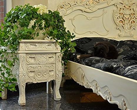 Nachtkommode Kommode Schlafzimmer Barock Mahagoni Nachttisch Massivholz Antik