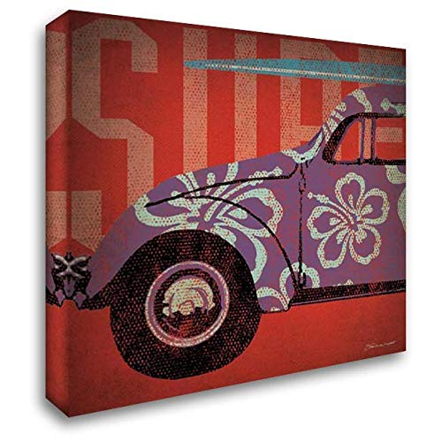 Surf Bug 28x28 Gallery Wrapped Stretched Canvas Art by Marrott, Stephanie