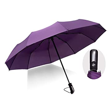 Reinforced Canopy Ergonomic Handle Windproof Auto Open//Close Multiple Colors Black Umbrella Compact Travel Umbrella