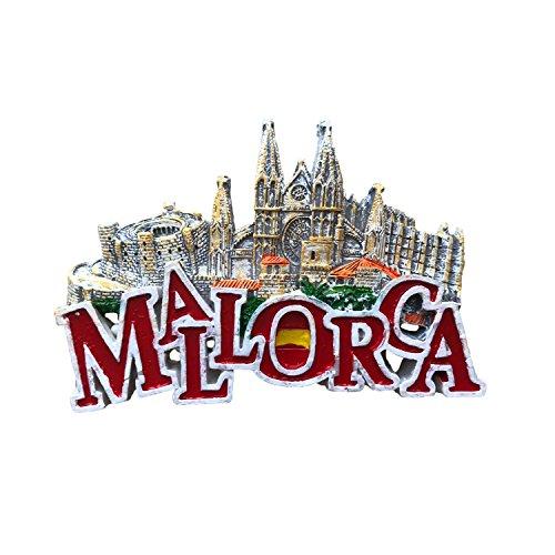 MUYU Magnet Palma Cathedral Mallorca Imán para Nevera, 3D ...