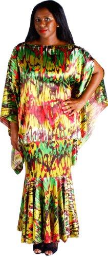 Raggs on the Boulevard Green Multi Print Skirt Set by Courtney Washington
