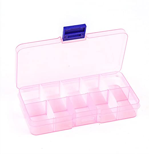Clear Beads Jewelry Storage Case Organizer Home Sewing Thread Tools Box Case