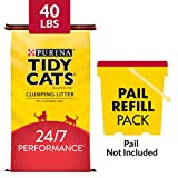 Purina Tidy Cats Clumping Cat Litter, 24/7 Performance Multi Cat Litter - 40 lb. Bag: more info