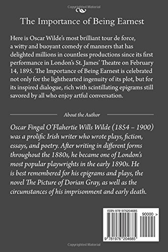The Importance Of Being Earnest A Trivial Comedy For Serious People  The Importance Of Being Earnest A Trivial Comedy For Serious People Oscar  Wilde  Amazoncom Books