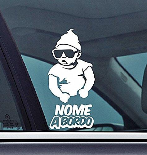 Personalized Adesivo per auto personalizzabile Kids Car sticker drift bumper window car funny vinyl Van Love Heart decor Home Live Kids funny wall art decal Baby On Board Bambino a Bordo Con Nome