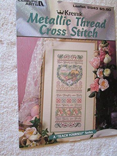 Kreinik Metallic Thread Cross Stitch Leisure Arts Leaflet 2943