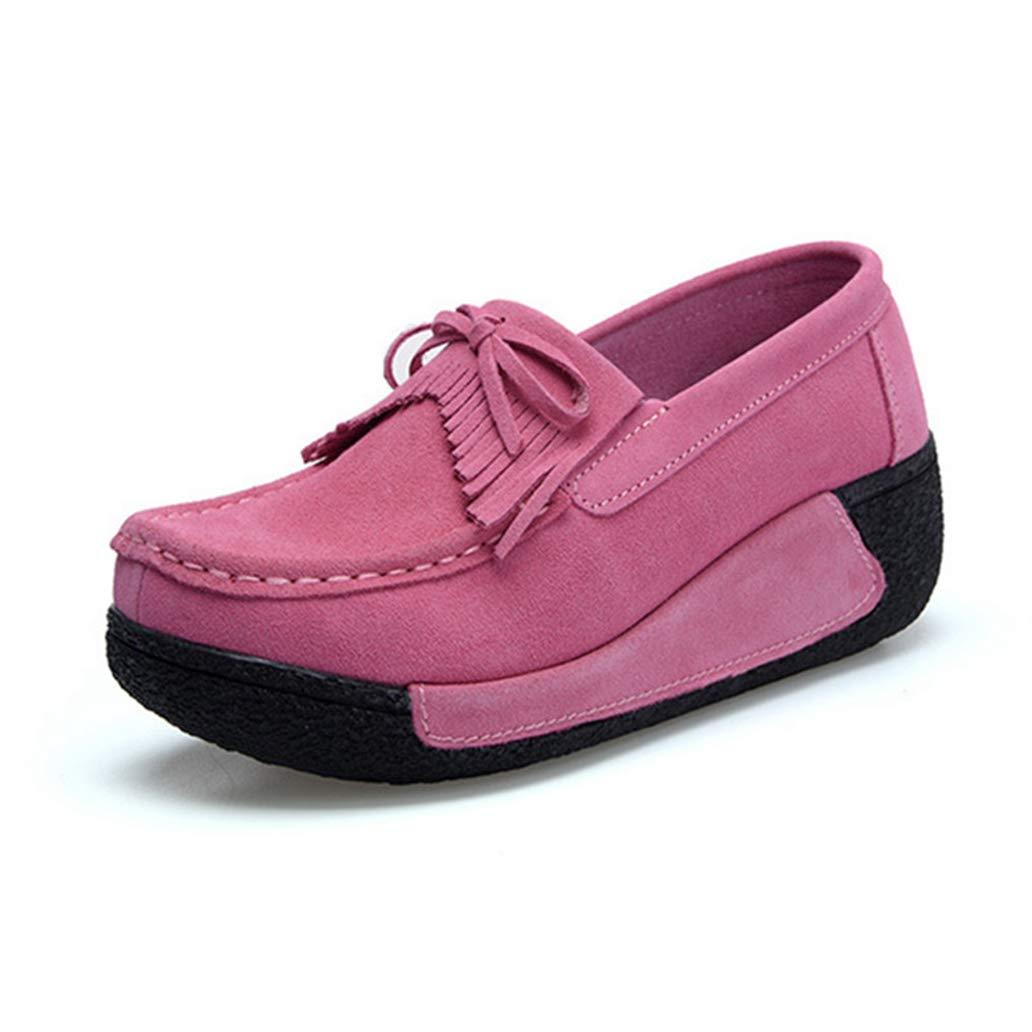 York Zhu Women Flat Shoes Height Increasing Fashion Casual Shoes Platform Walking Loafers