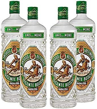 Anis del Mono Seco de 70 cl - Bodegas Osborne (Pack de 4 botellas): Amazon.es: Alimentación y bebidas