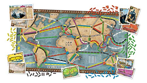 Ticket to Ride Rails & Sails Board Game   Family Board Game   Board Game for Adults and Family   Train Game   Ages 10…