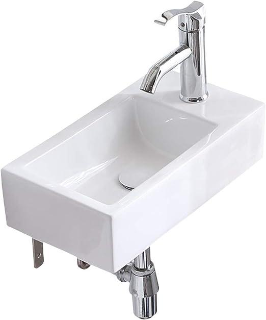 Amazon Com Kitchen Sinks Bathroom Vanity Small Sink Wall Mounted Wash Basin Simple Ceramic Washbasin Balcony Bathroom Vanity Laundry Pool Gift Color White Size 4524 512cm Home Kitchen