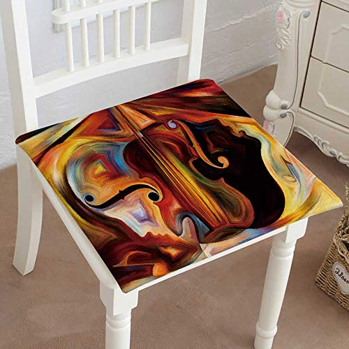 (Mikihome Squared Seat Cushion Inner Melody Series Composition of Human and Musical Shapes Garden Patio Home Kitchen Office Sofa Seat Pad)