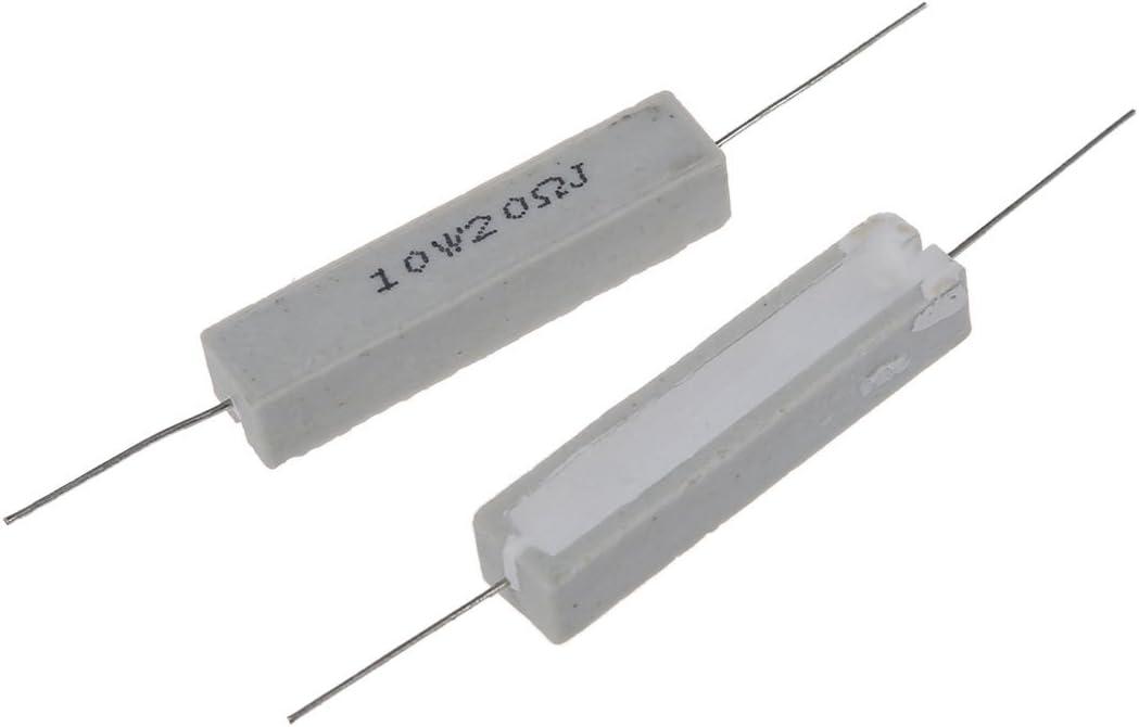 Liseng R 5X 10W 20 Ohm 5/% Bobinee ceramique Ciment Resistance 10 Watt