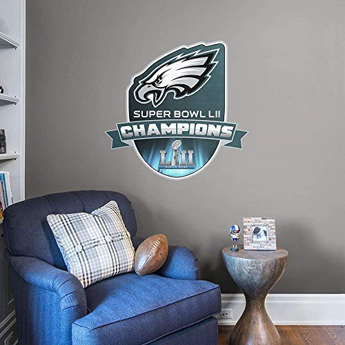 FATHEAD NFL Philadelphia Eagles - Super Bowl LII Champions Logo- Officially Licensed Removable Wall Graphic, Multicolor, Giant