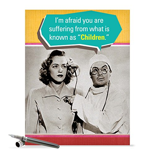 J0209 Jumbo Funny Mother's Day Card: Suffering from Children With Envelope (Extra Large Version: 8.5'' x 11'')