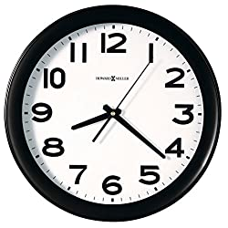 Howard Miller Easy Kenwick Wall Clock, 13-1/2, Black (625485)