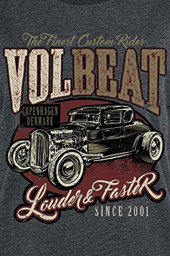 Volbeat Louder and Faster T-Shirt dunkelgrau meliert
