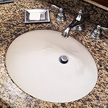 Nantucket dissipateurs Um-17/X 14-w-k 43,2/cm par 35,6/cm ovale en c/éramique encastrable Meuble lavabo Blanc