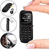 Mini Mobile Cell Phone Bluetooth Dialer Headset Earphone Stereo Support SIM Card 0.66 inch(Black)