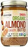 Woodstock Smooth Organic Lightly Toasted Almond Butter, Unsalted, 16 oz