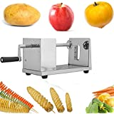 Euroeshop Stainless Steel Spiral Potato Slicer Potato Chips Twister Fruits Vegetable Cutter Peeler by Euroeshop