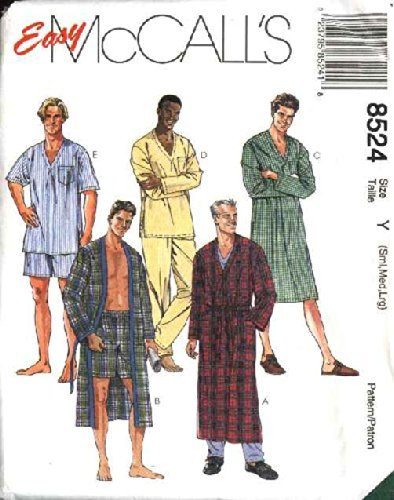 McCall's Sewing Pattern 8524 Mens Chest Size 34-44